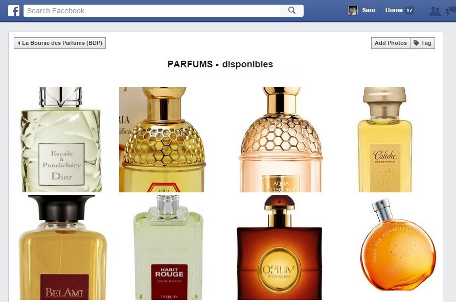 bourse des parfums_page facebook