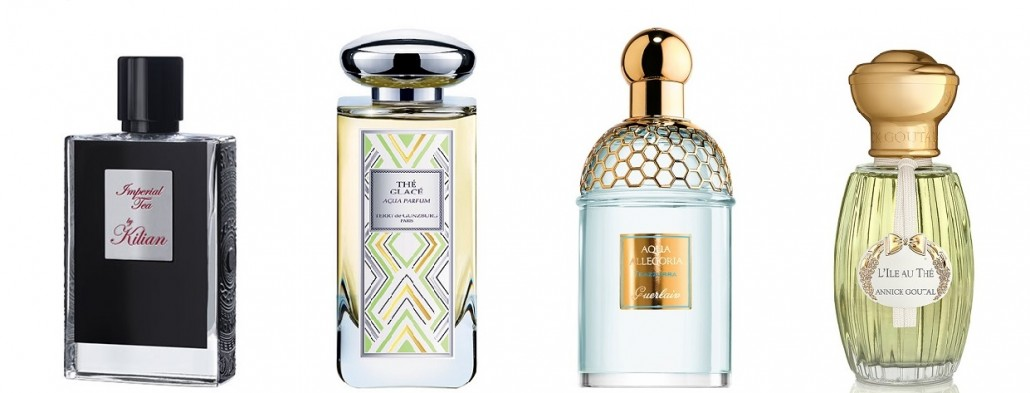Imperial Tea (By Kilian),Thé Glacé Aqua Parfum (Terry de Gunzburg), Aqua Allegoria Teazzura (Guerlain), L'Ile au Thé (Annick Goutal)