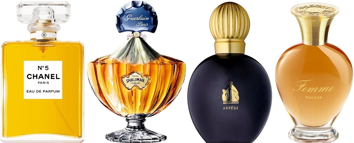 histoire du parfum chanel n°5 shalimar arpege femme de rochas