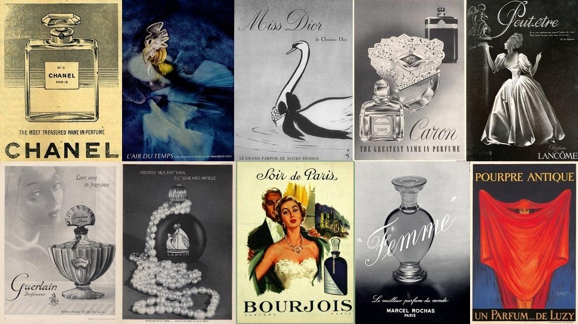 histoire du parfum vintage guerlain chanel dior lanvin caron