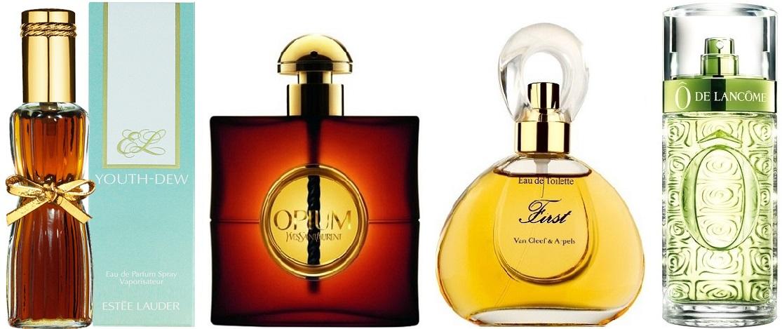 histoire du parfum youth dew opium o de lancome first van cleef