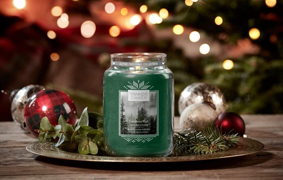 bougie sapins dans la brume yankee candle