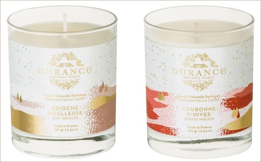 bougies brioche et couronne d hiver durance